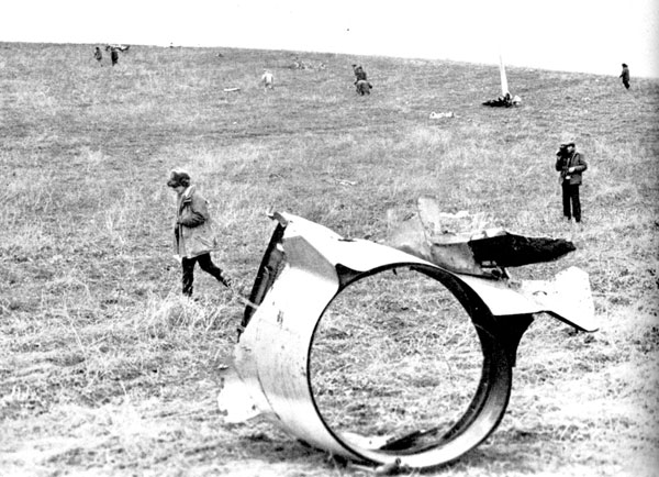 Մարտունու շրջան: 1993թ.: Ադրբեջանական ինքնաթիռի բեկորներ: