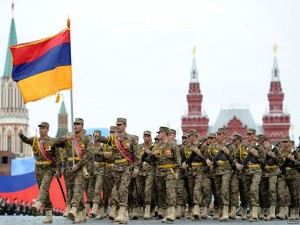 ARMENIAN SUBDIVISION IN THE PARADE IN MOSCOW